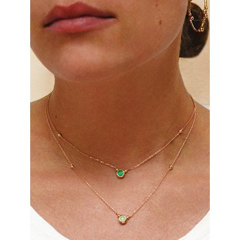 Bonheur Birthstone Aquamarine Necklace