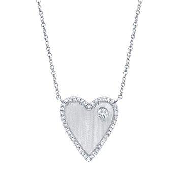 0.16 ctw Diamond Heart Necklace