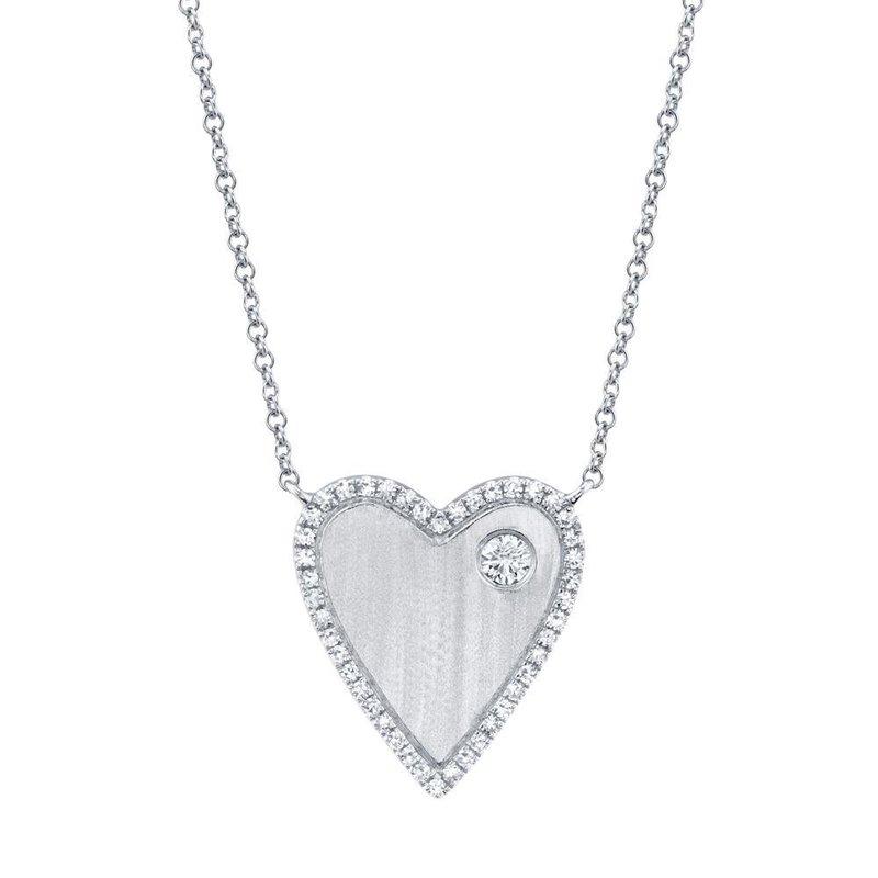 Shy Creation 0.16 ctw Diamond Heart Necklace
