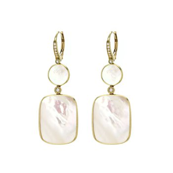 Mother of Pearl Double Drop Earrings