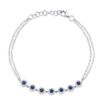 Blue Sapphire & Diamond Bracelet