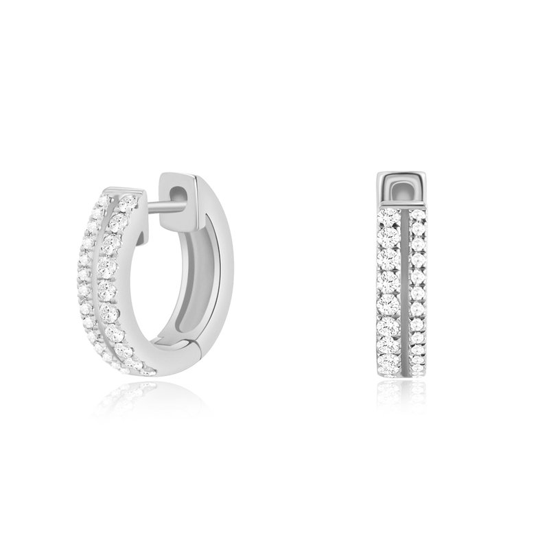 Continental Collection 0.26 ctw Diamond Huggie Earrings