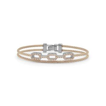 0.37 ctw Diamond Cable Bangle Bracelet