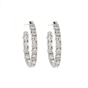 """2.75 ctw Diamond 3/4"""" Inside-Out Hoop Earrings"""