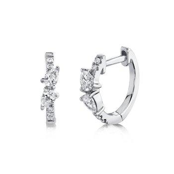 0.32 ctw Diamond Huggie Earrings