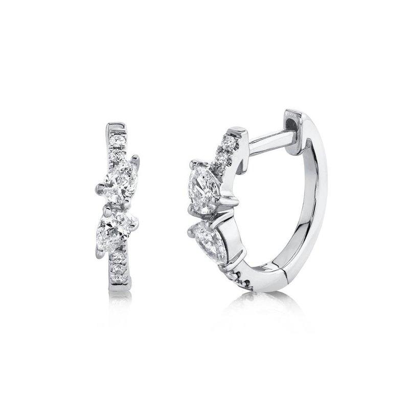 Shy Creation 0.32 ctw Diamond Huggie Earrings