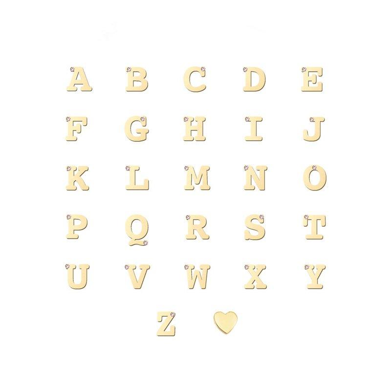 Anzie Customizable Love Letter Single Diamond Necklace
