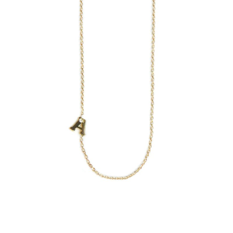 Anzie Customizable Love Letter Single Diamond Necklace