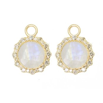 MOONSTONE ROUND 18K EARRING JACKETS
