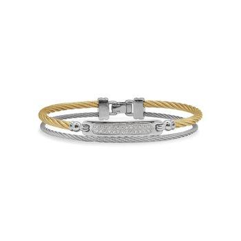 0.13 ctw Diamond Cable Bangle Bracelet