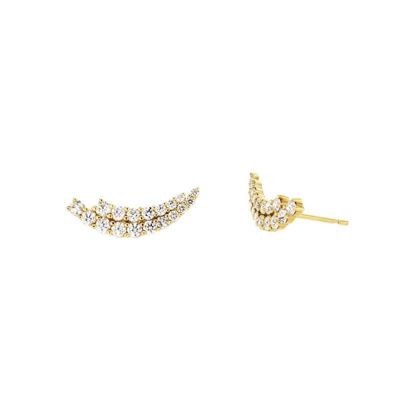 Continental Collection 1.29 ctw Diamond Post Earrings