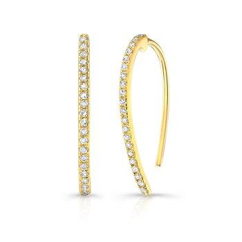 0.13 ctw Diamond Wire Earrings