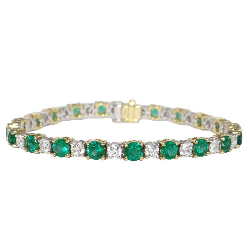 Continental Collection Emerald & Diamond Tennis Bracelet
