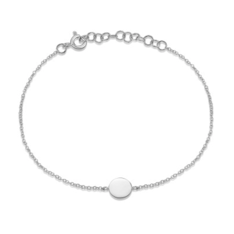 Continental Collection Round Disc Bracelet - Engravable