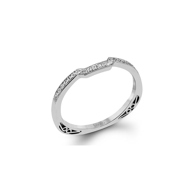 Simon G Jewelry Contoured Diamond Band