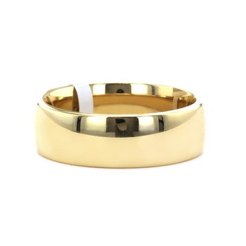 7MM Low Dome Polished Band