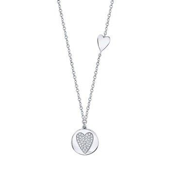0.08 ctw Diamond Heart Necklace