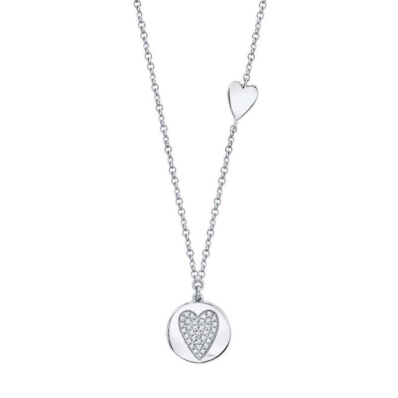 Shy Creation 0.08 ctw Diamond Heart Necklace