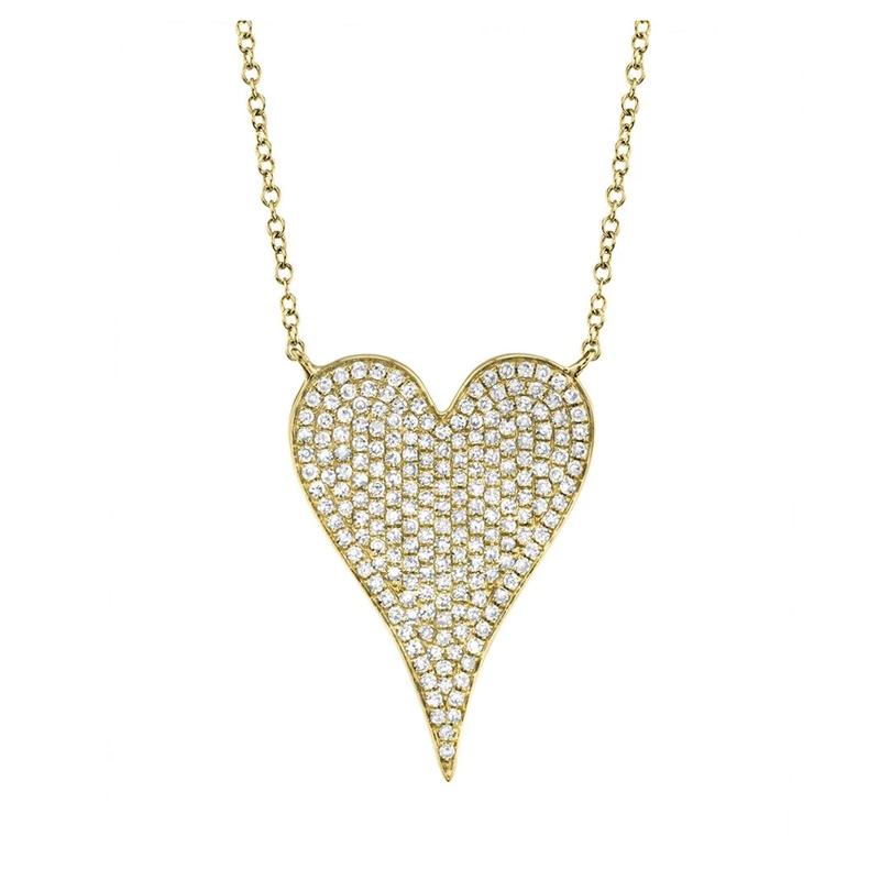 Shy Creation 0.43 ctw Diamond Heart Necklace