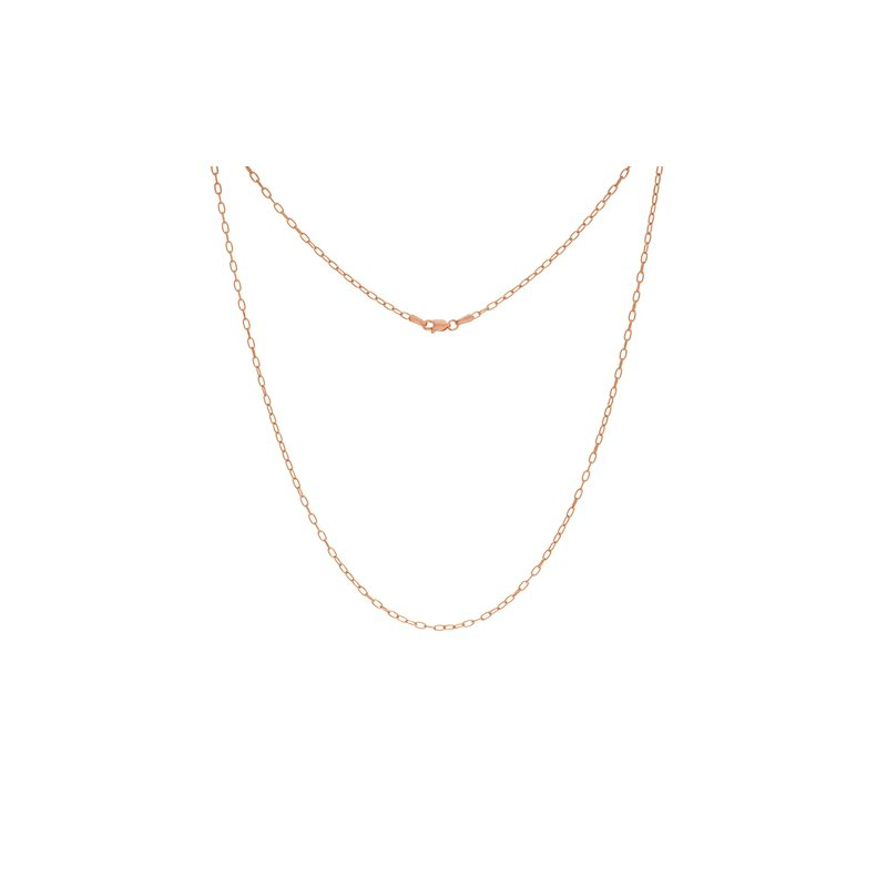 """Continental Collection 24"""" 2.1MM Paper Clip Necklace"""