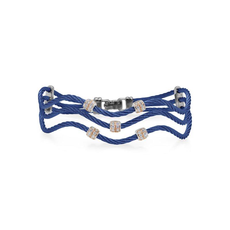 ALOR 0.33 ctw Diamond Cable Bangle Bracelet