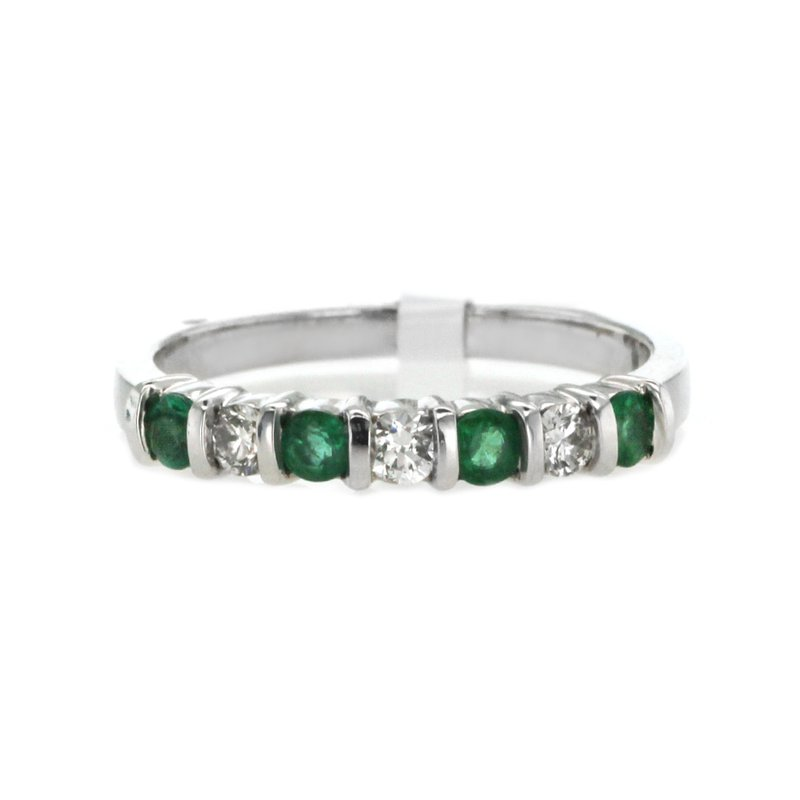 Continental Collection Emerald & Diamond Band