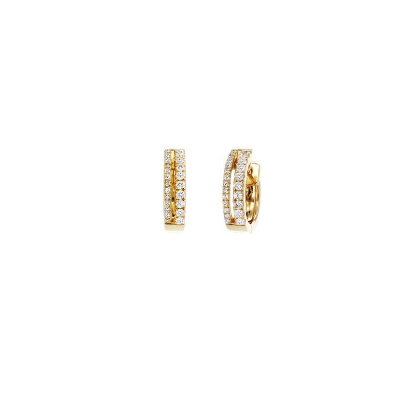 Continental Collection Diamond 2-row Huggie Earrings