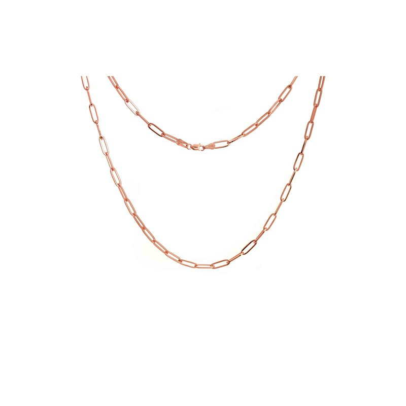"""Continental Collection 18"""" 3.85MM Paper Clip Chain"""