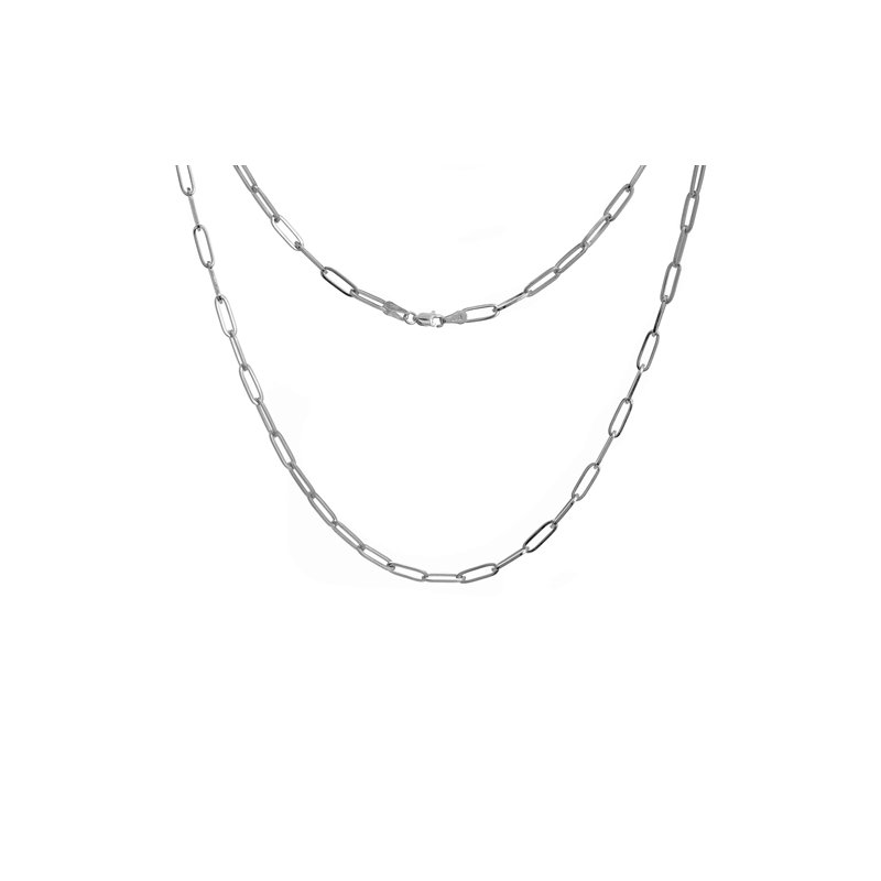 """Continental Collection 16"""" 3.85MM Paper Clip Chain"""