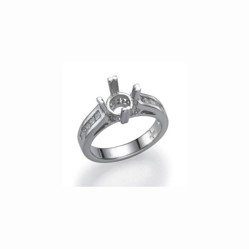 Platinum .42 Ctw Engagement Ring Mounting