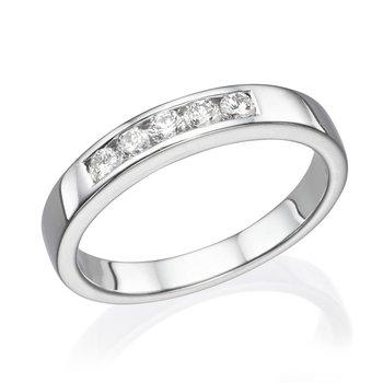 5 Diamond Platinum Diamond Wedding Band