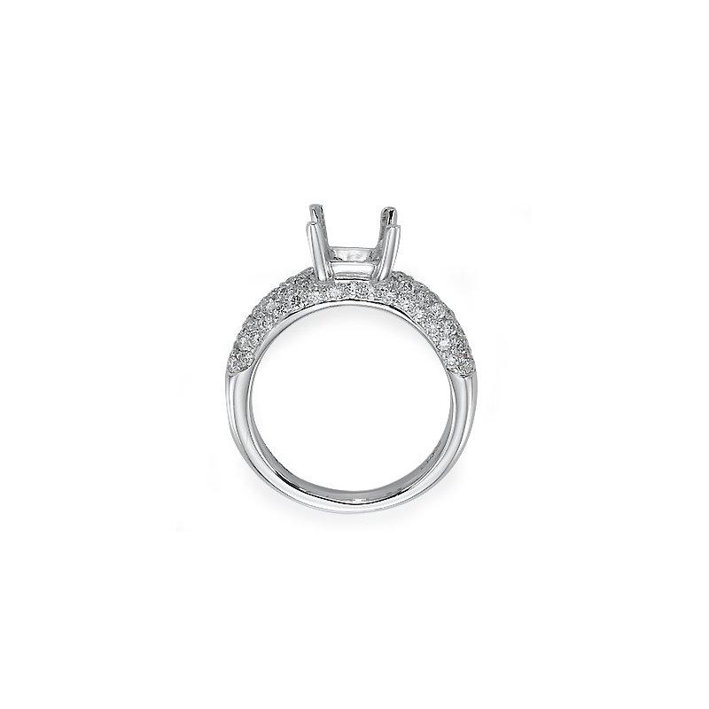 Platinum Pave Engagement Ring Mounting