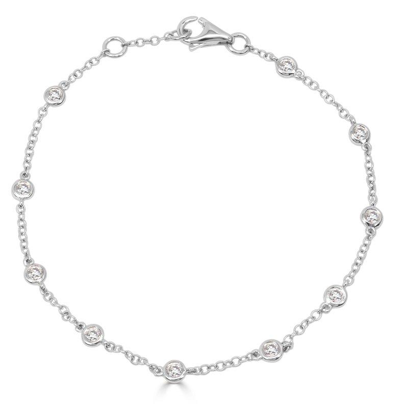 18K Bezel Station Diamond Bracelet