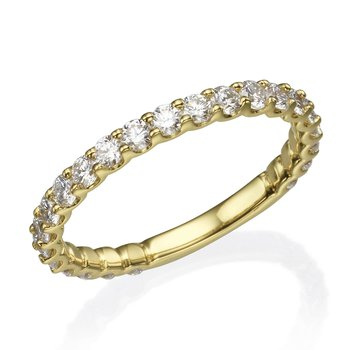 14K Yellow Gold .93Ctw Diamond Wedding Band