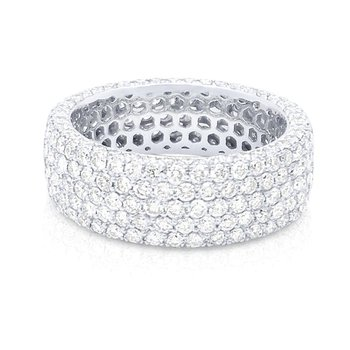 14K Gold Pave Diamond Eternity Ring