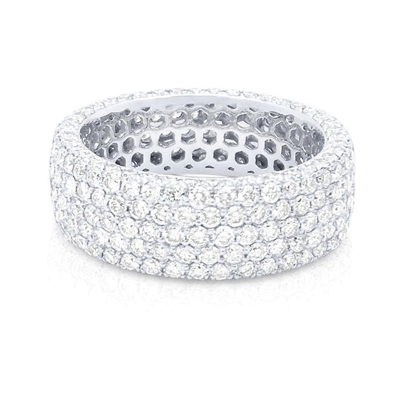 14K Gold Pave Diamond Eternity Ring