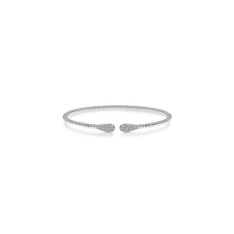 14K White Gold Diamond Cuff Bracelet