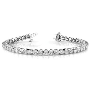 Scalloped Eternity Tennis Bracelet