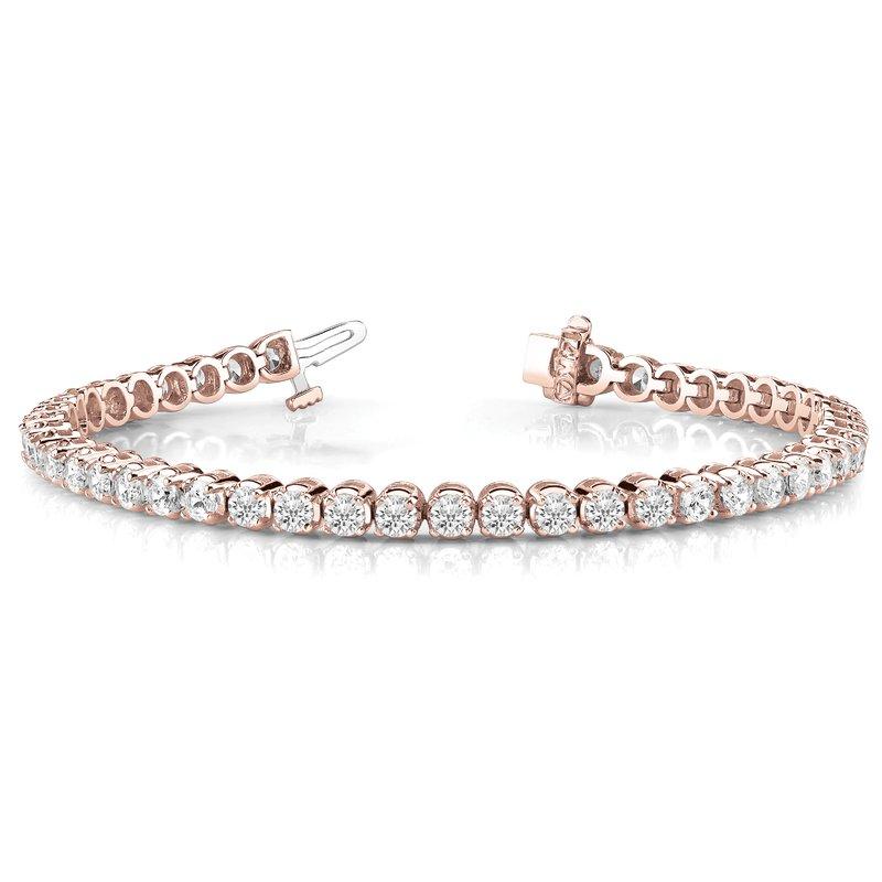 Scalloped Eternity Tennis Bracelet
