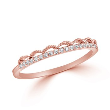 14K Gold Lace Diamond Band