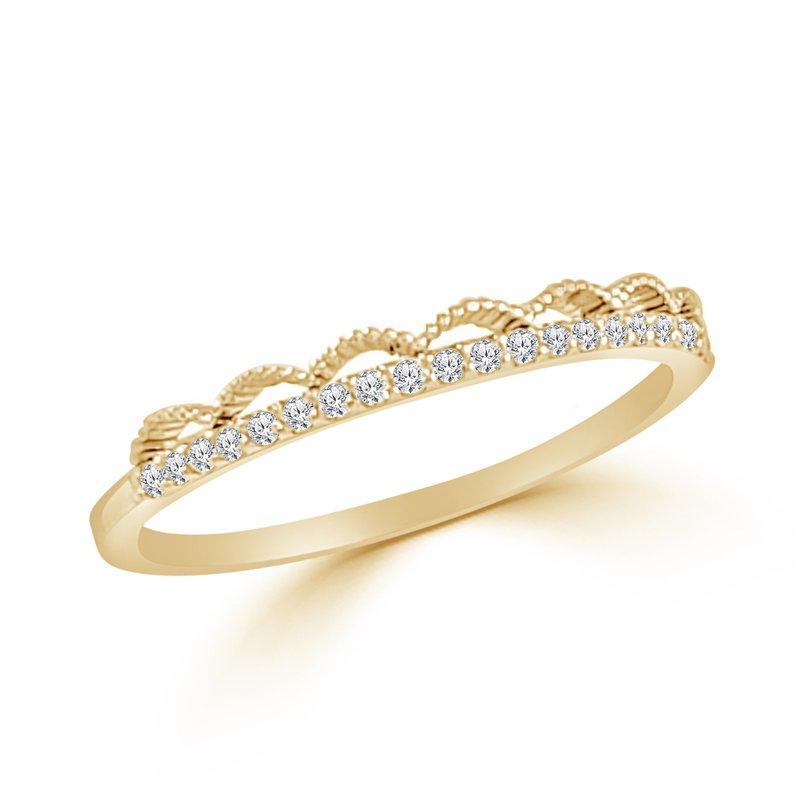 14K Gold Lace Diamond Band