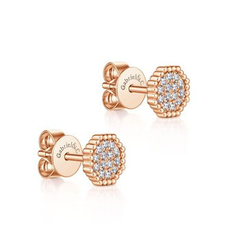 14K Rose Gold Fashion Studs