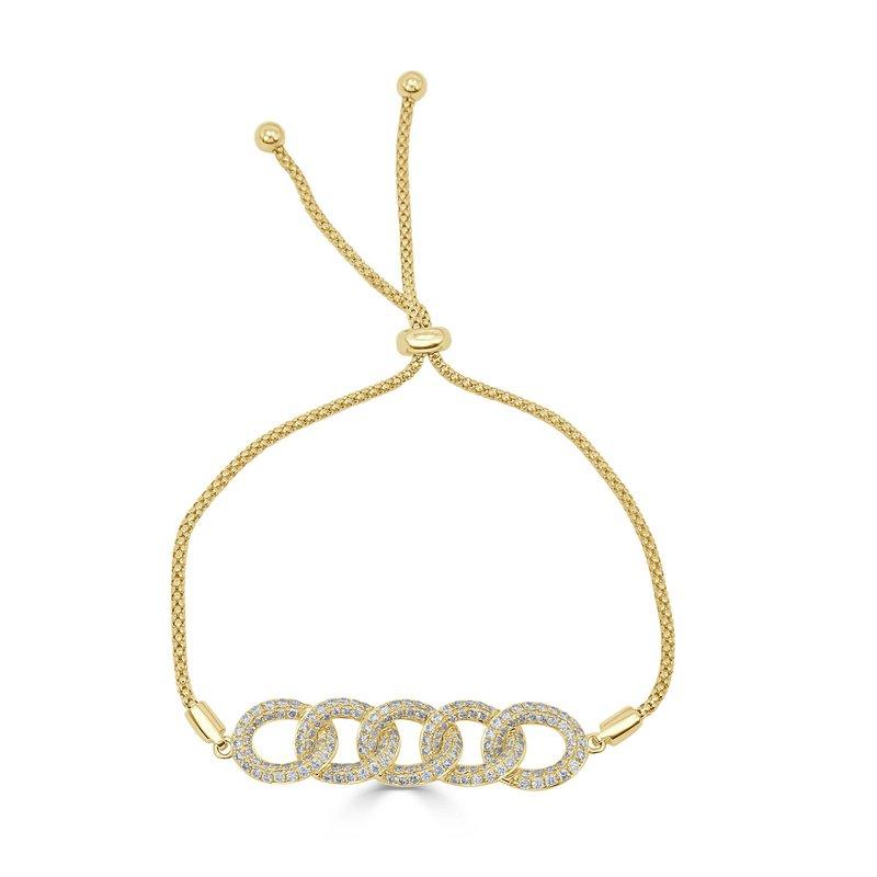 18K Gold Chain Link Bolo Bracelet