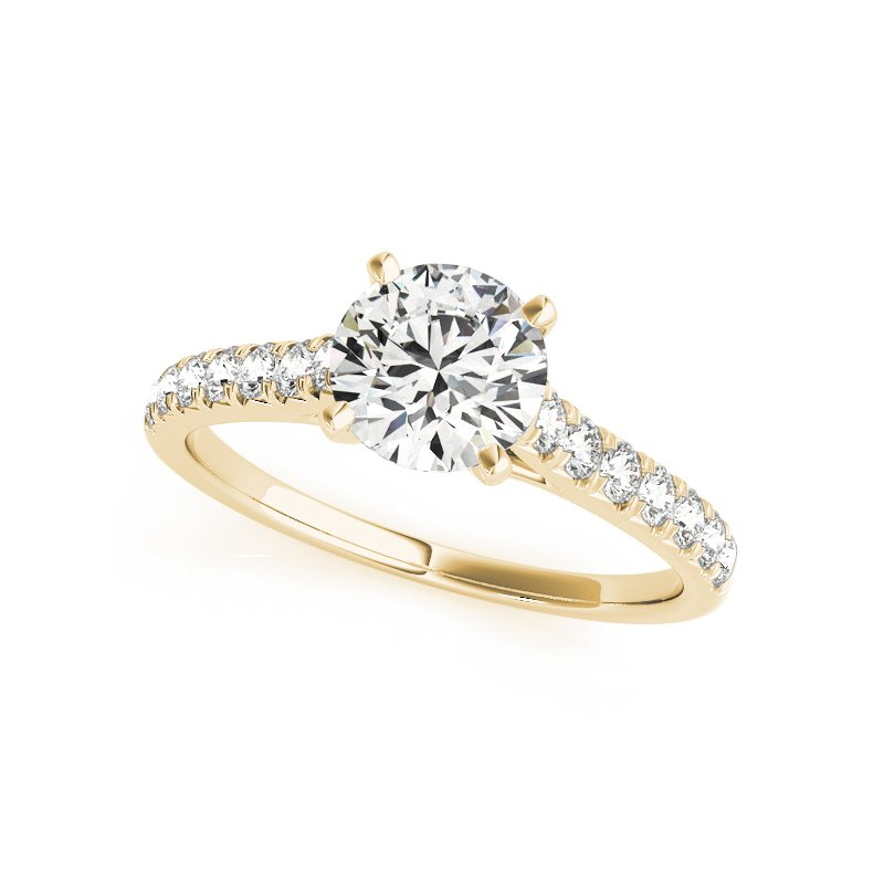 Cathedral Diamond Prong Engagement Ring Mounting