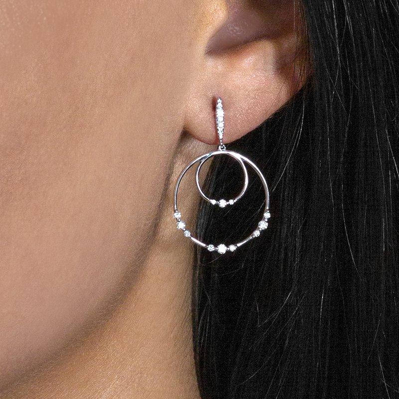 14K Dangle Hoop Earrings