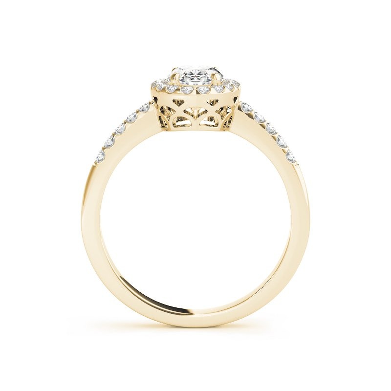 Delicate Oval Halo Diamond Engagement Ring Mounting