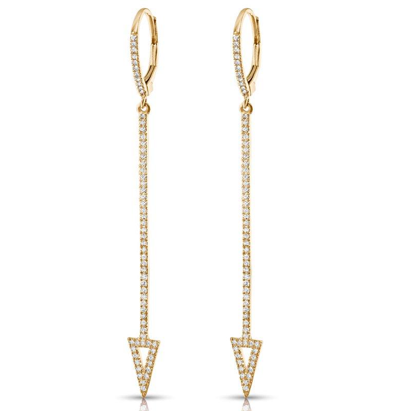 14K Diamond Dangle Arrow Earrings