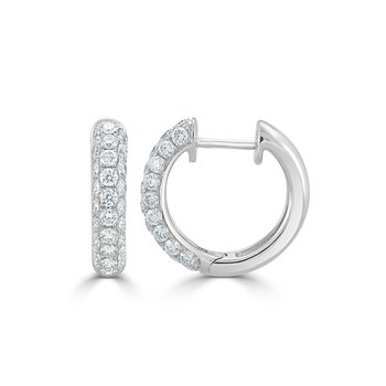 18K Gold Diamond Pave Huggies