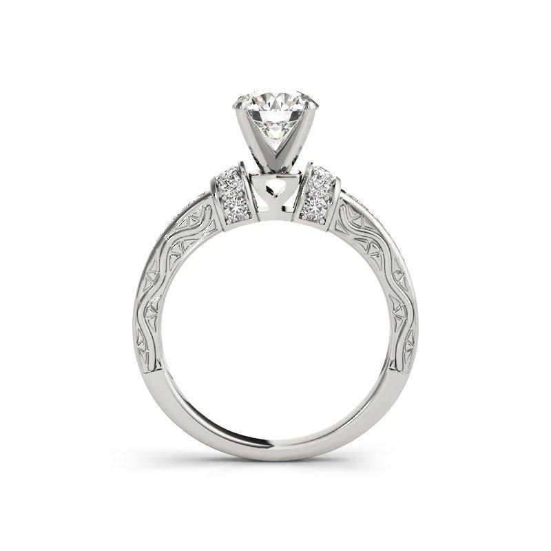 Vintage Inspired Filigree Engagement Ring Mounting