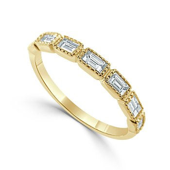 14K Gold Baguette Diamond Band
